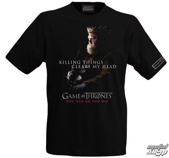 tričko pánské Hra o trůny - Robert Baratheon - E1020965