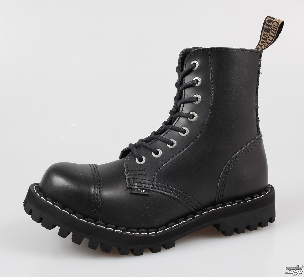 46b8465a549 boty STEEL - 8 dírkové - 114 113 - Black - metalshop.cz