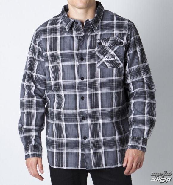 košile pánská s dlouhým rukávem METAL MULISHA - Caliber - Blk
