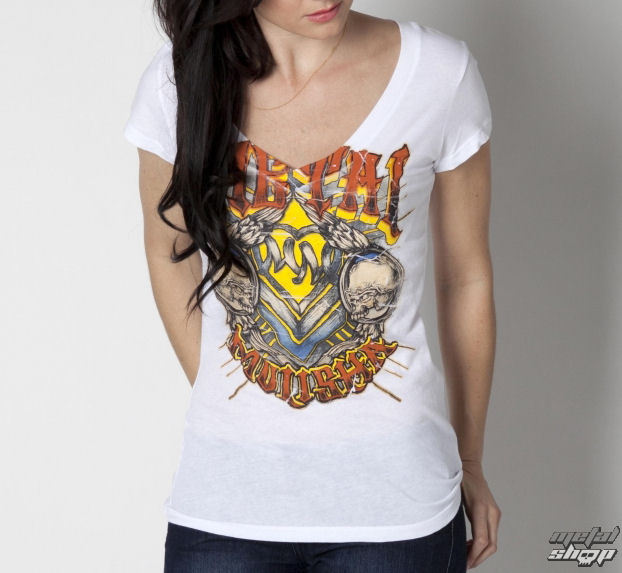 tričko dámské METAL MULISHA - Hard Times - Wht