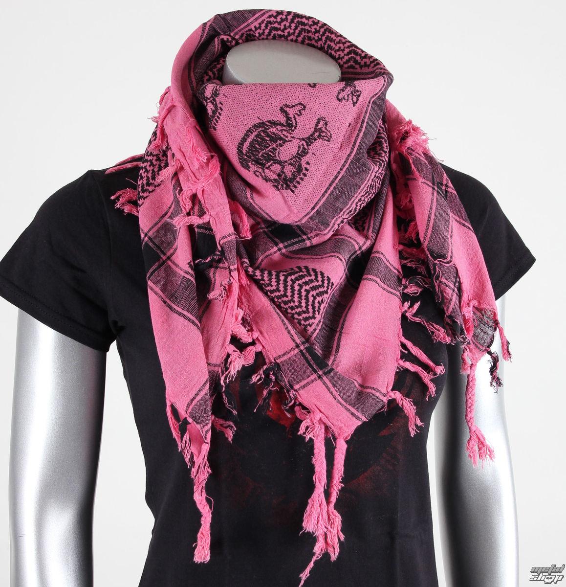 šátek ARAFAT - palestina - lebka 14 - růžová - metalshop.cz 028558754a