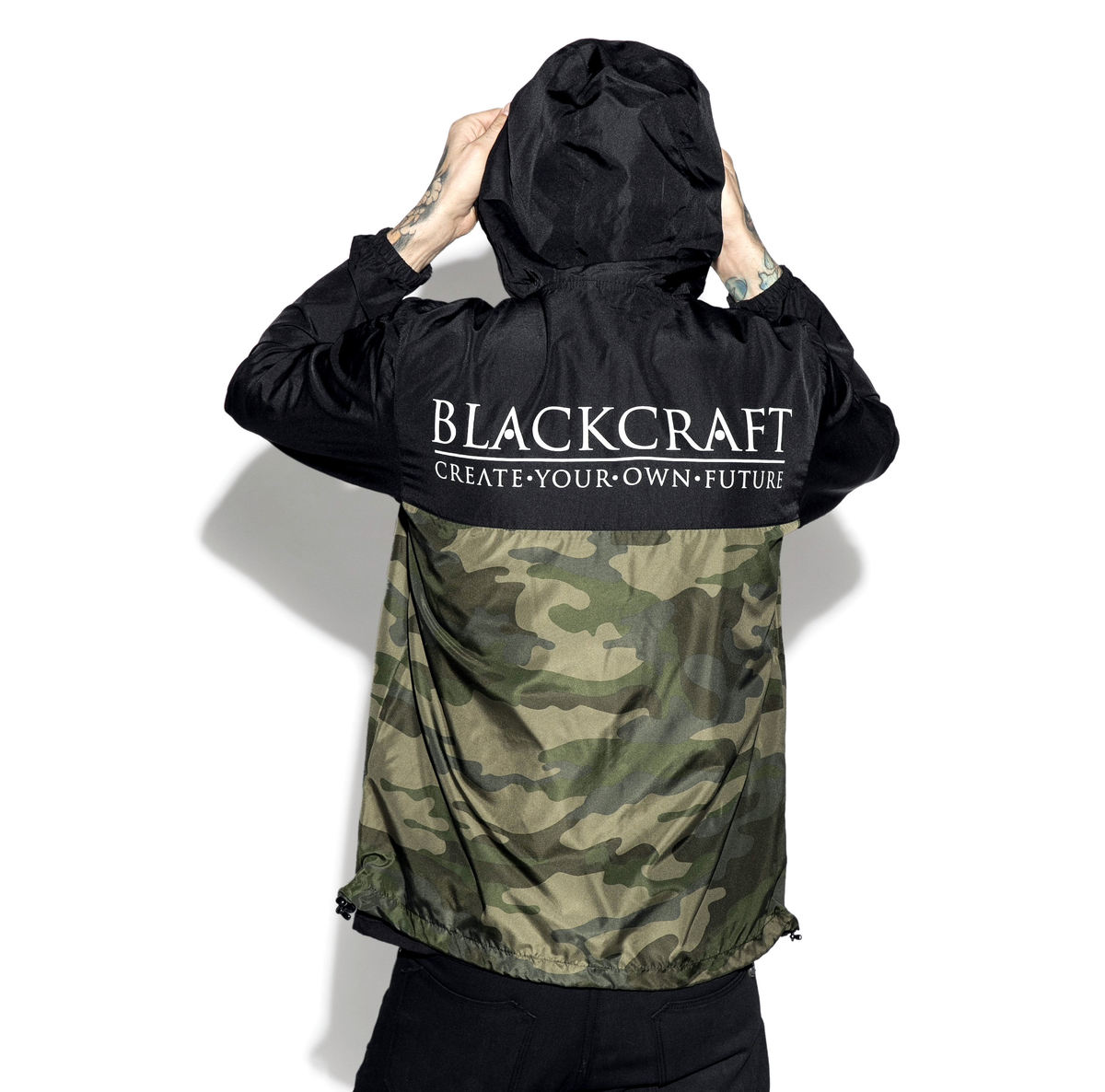 bunda jarněpodzimní BLACK CRAFT Staple Black on Camo S