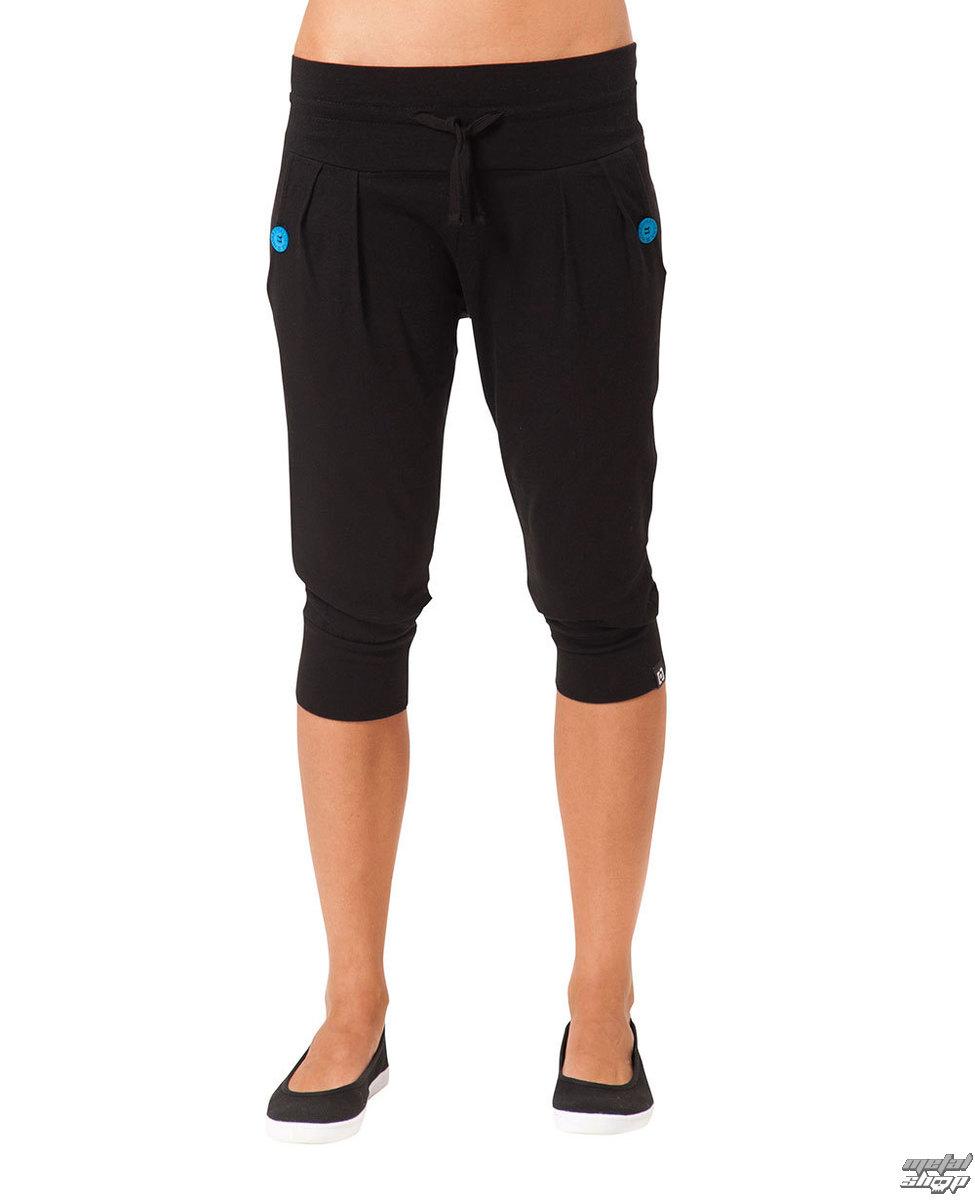 kalhoty - tepláky 3/4- dámské HORSEFEATHERS - Lazy Capri - BLACK