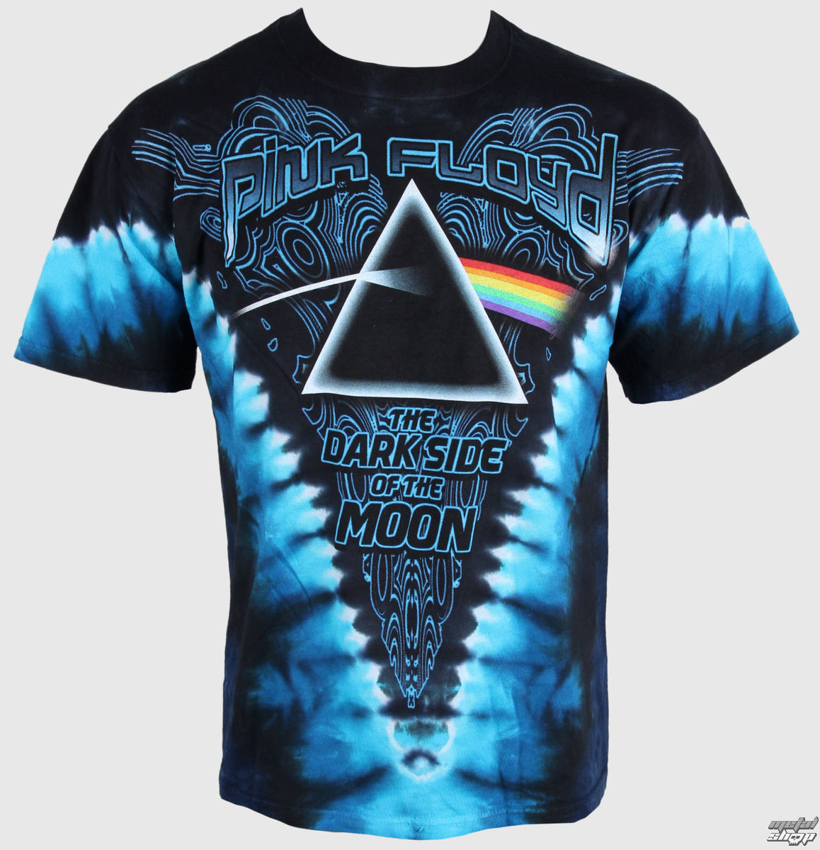 tričko pánské Pink Floyd - Dark Side of the Moon - LIQUID BLUE - 11824