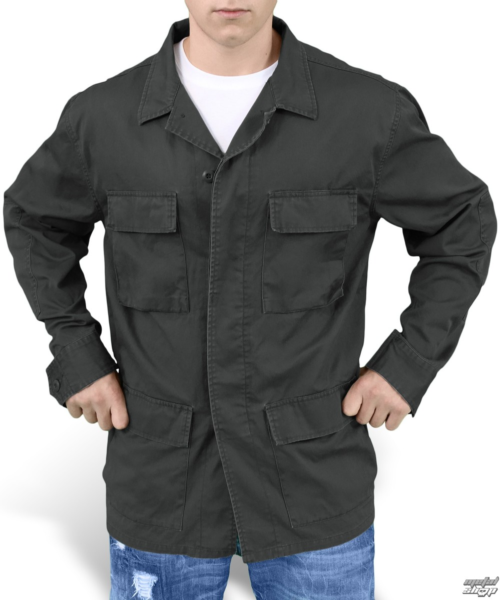 bunda pánská jarně-podzimní SURPLUS - BDU Gewaschen - Black GE - 20-3586-63