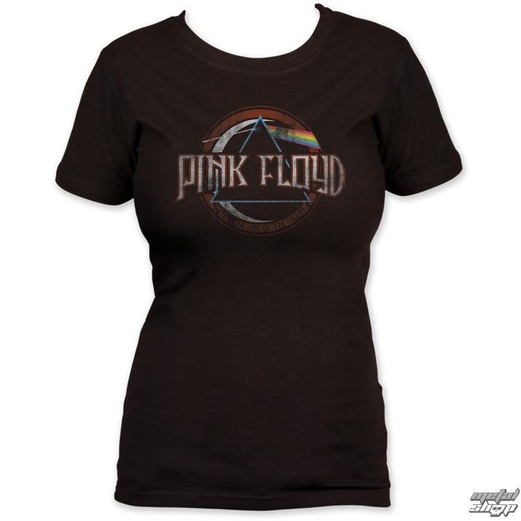 tričko dámské Pink Floyd - Dark Side of the Moon seal - Black - IMPACT