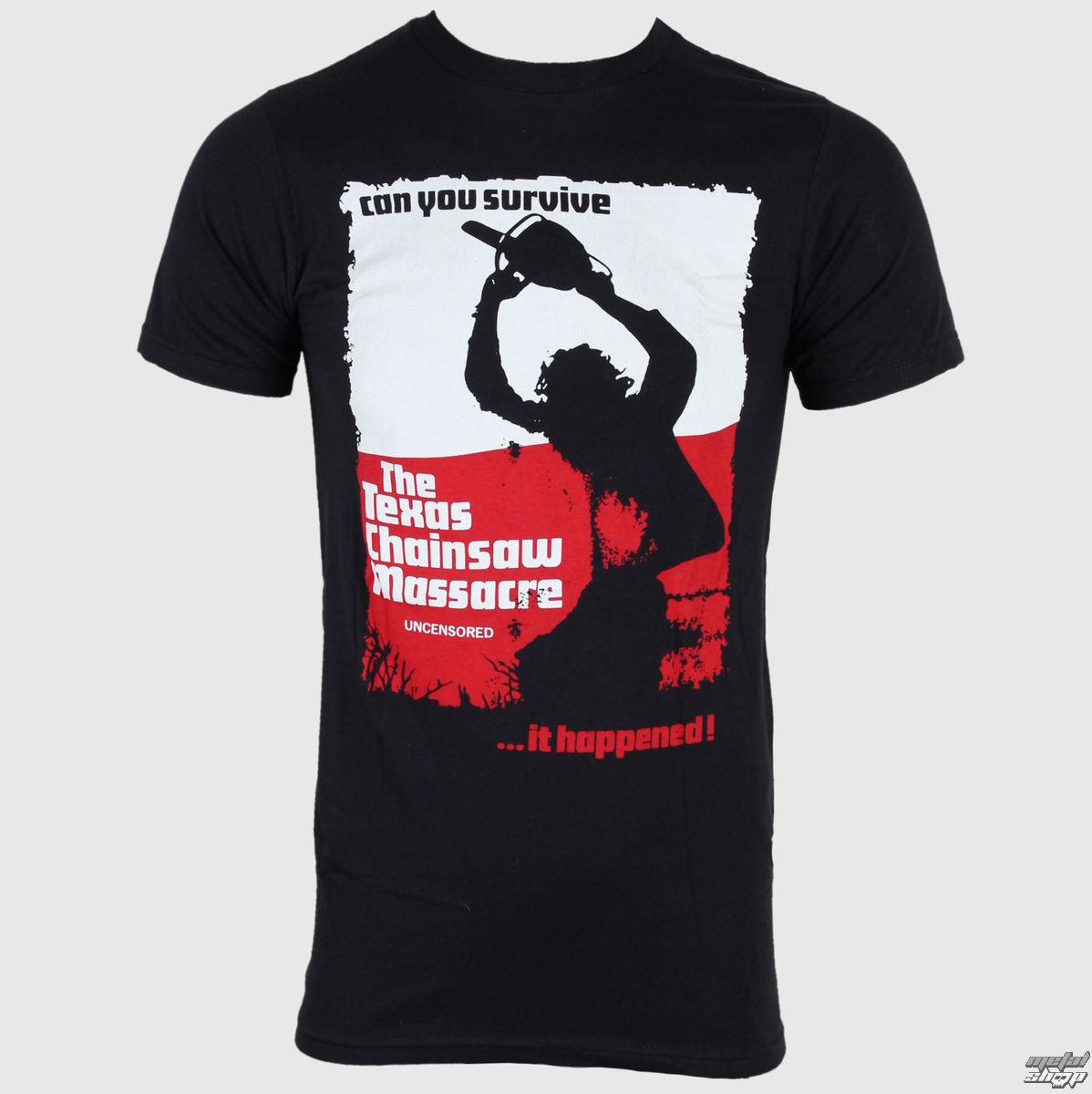 tričko pánské Texas Chainsaw Massacre - Can You Survive - Black - IMPACT - TCM04