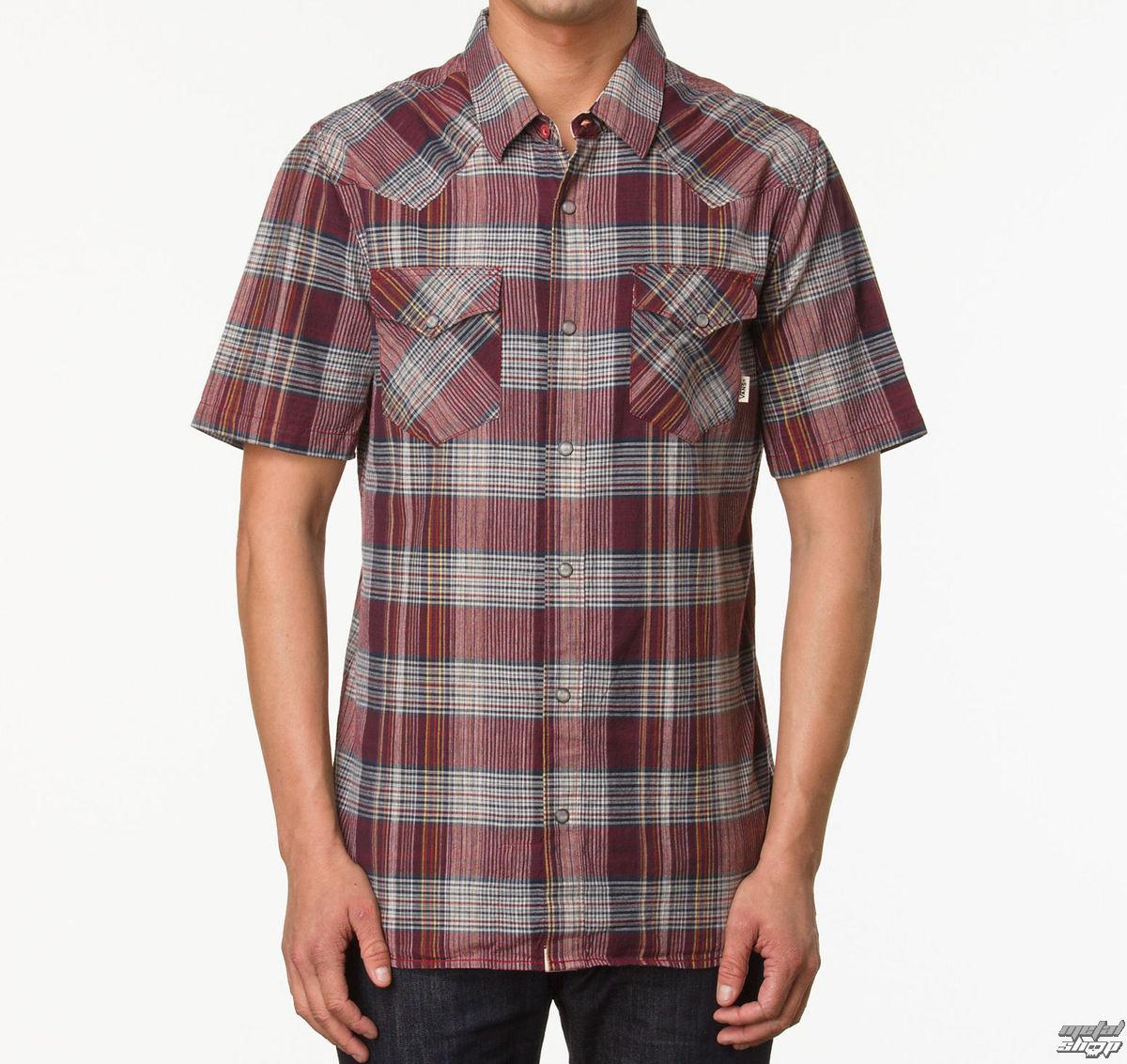 3160496f64e košile pánská VANS - Edgeware - Redrum Plaid - VO47VV - metalshop.cz