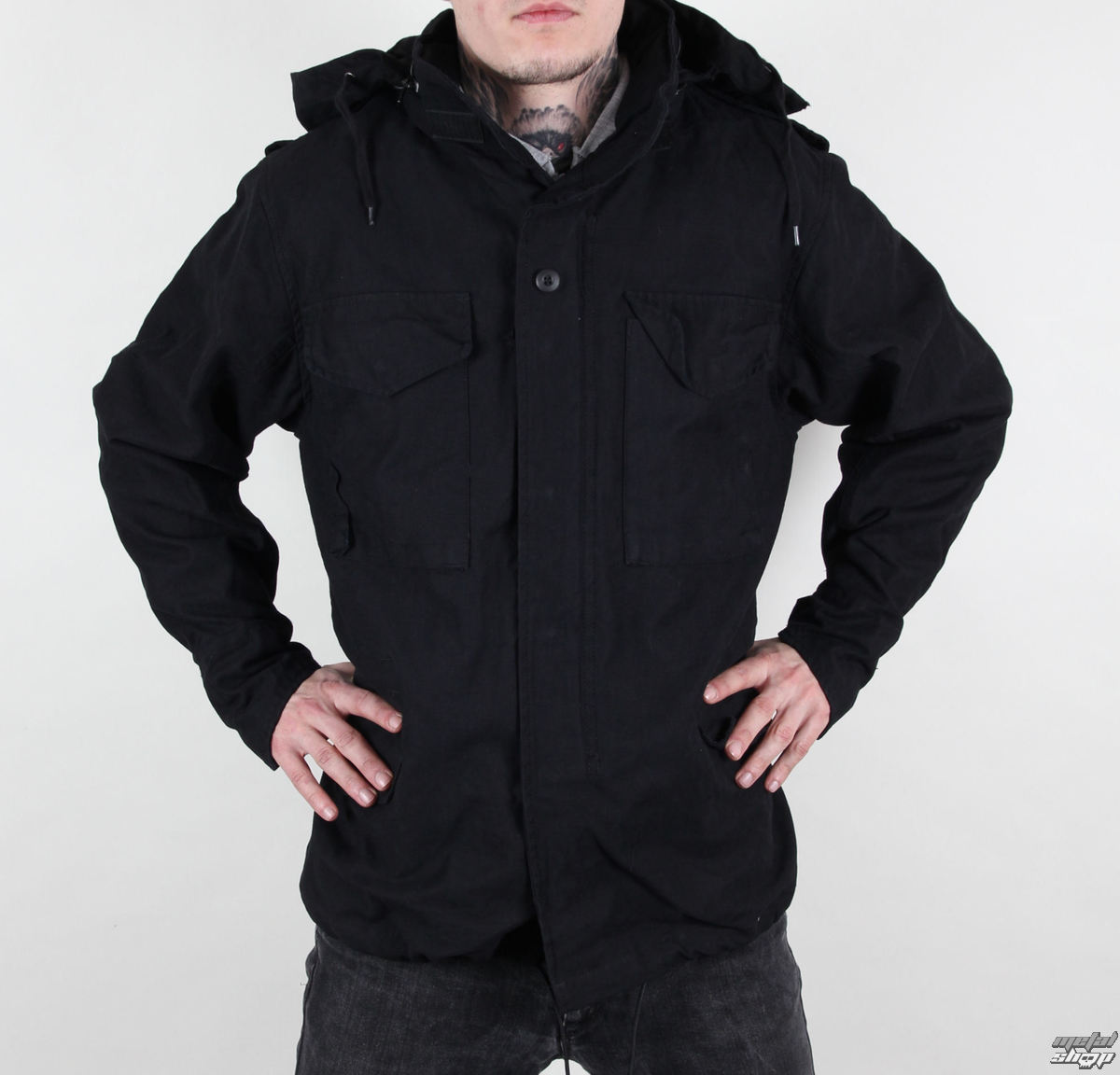 bunda pánská M65 Fieldjacket NYCO washed - BLACK