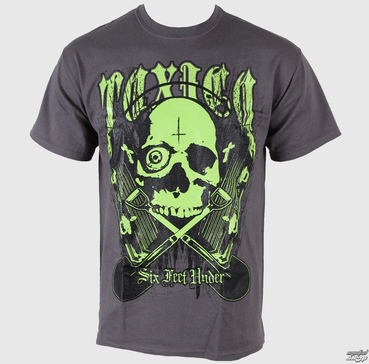 tričko pánské Toxico - Six Feet Under - Charcoal - MT263