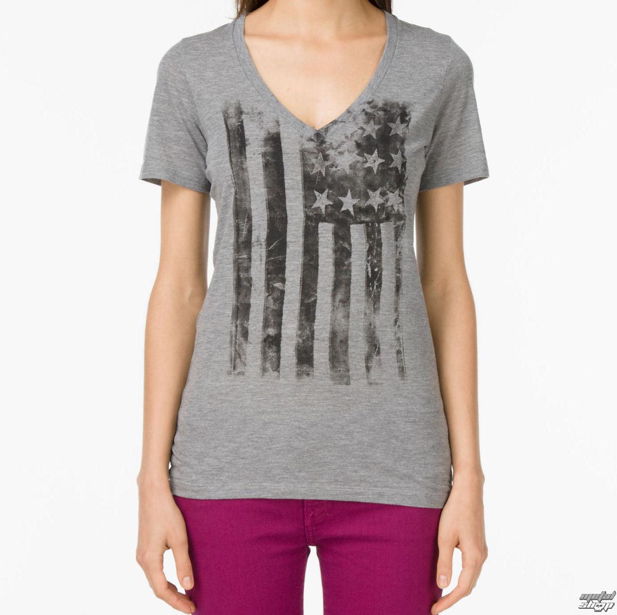 tričko dámské VANS - G Distressed America - Grey Heather - VUH5GRH