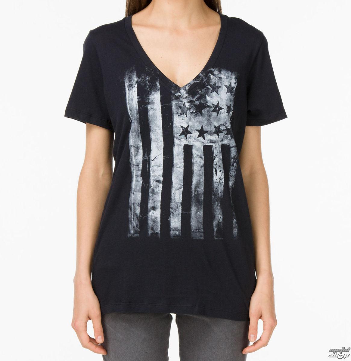 tričko dámské VANS - G Distressed America - Black - VUH5BLK