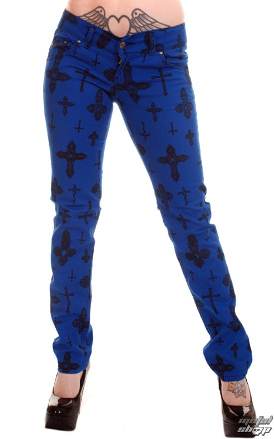 kalhoty dámské 3RDAND56th - Cross Skinny Jeans - Royal - JM1163