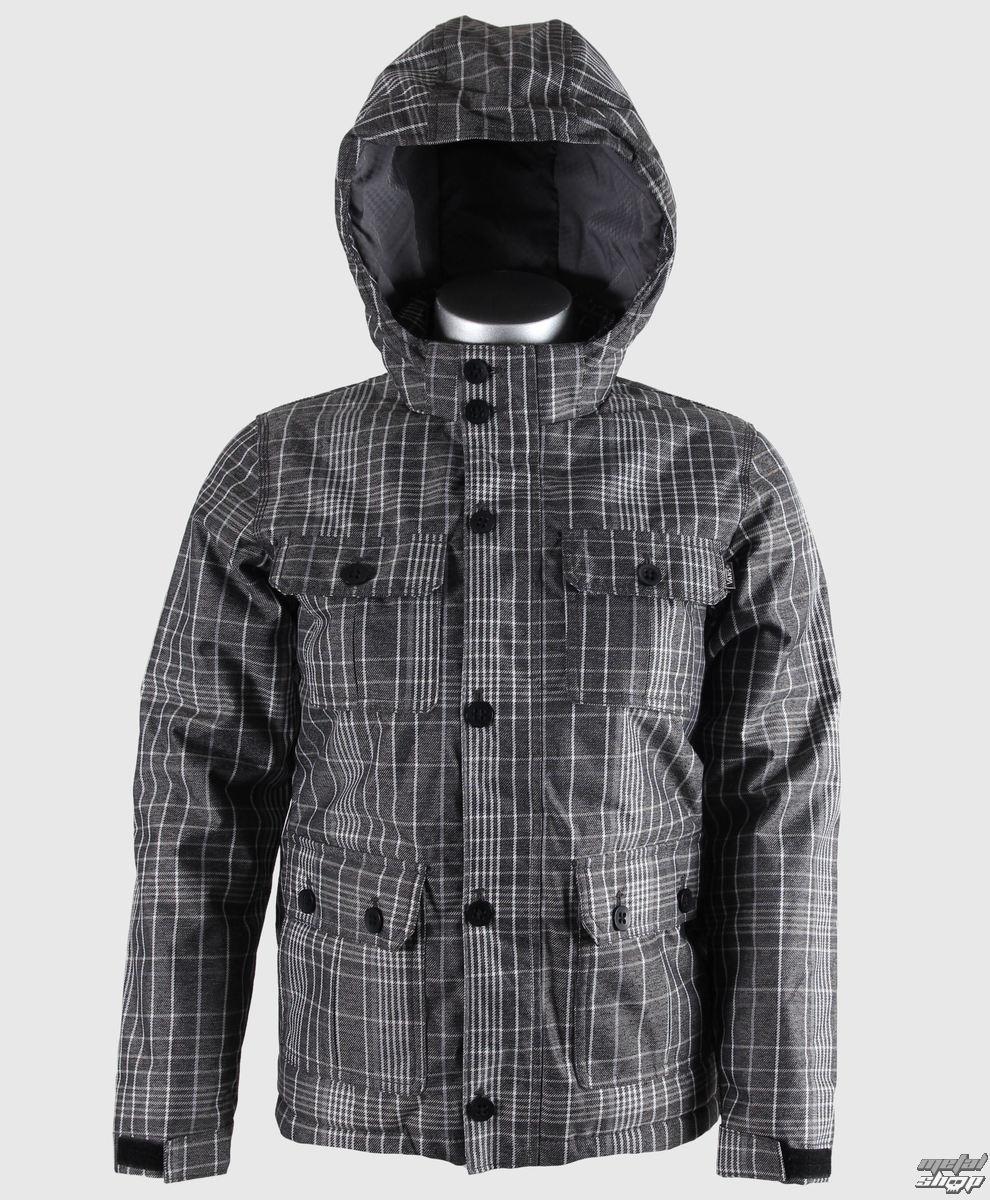 bunda dětská zimní VANS - Mixter II Boys - Black/New Charcoal Plaid - VQO8960