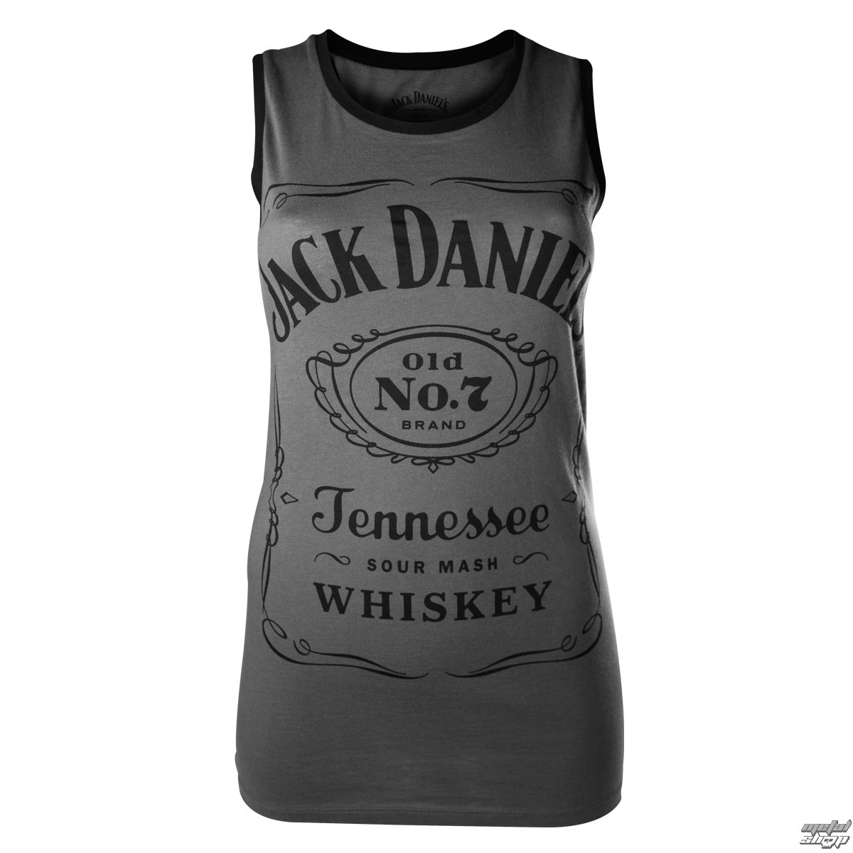 tílko dámské Jack Daniels - Charcoal - BIOWORLD - TS500201JDS