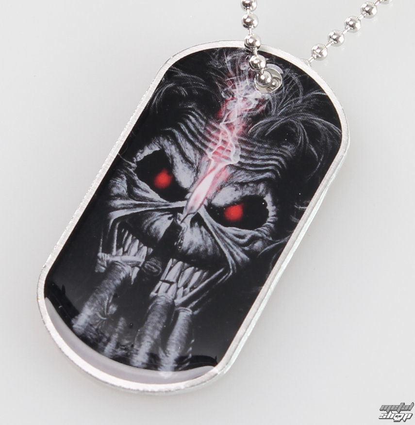 obojek (psí známka) Iron Maiden - Eddie Candle Finger - RAZAMATAZ - DT057
