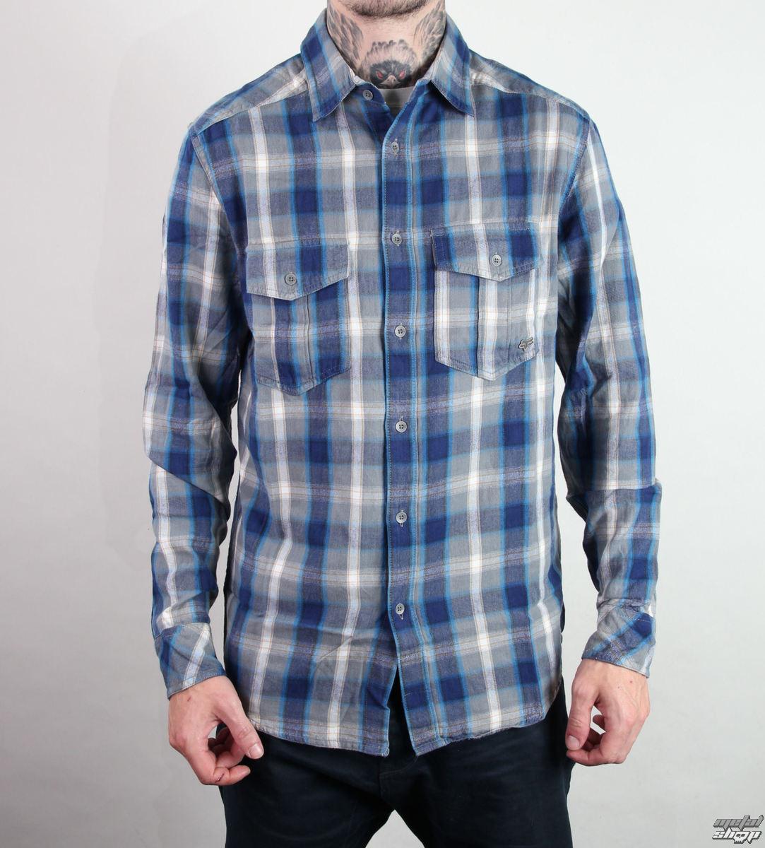 košile pánská FOX - Darius - Grey