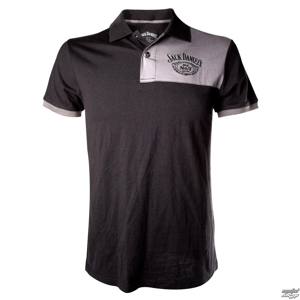 tričko pánské (polo) Jack Daniels - Patch With Logo - Grey - PO255618JDS