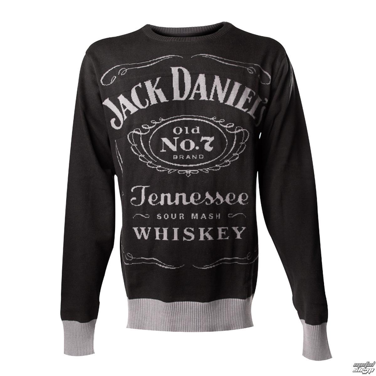 svetr pánský Jack Daniels - Knitted Sweater - Black - KW001014JDS