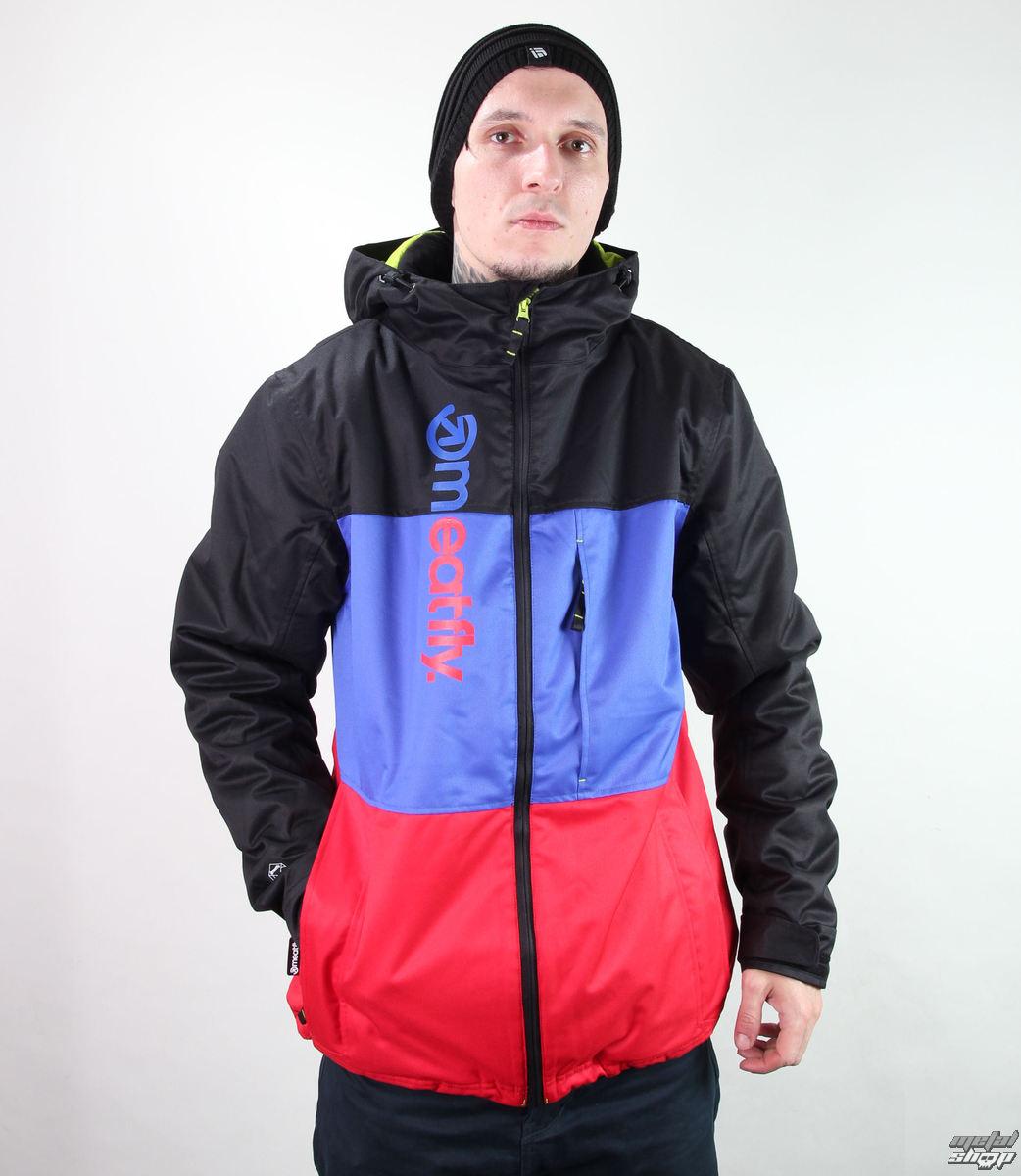 bunda pánská zimní -snb- MEATFLY - Marthus - C - BLACK-NAVY-RED
