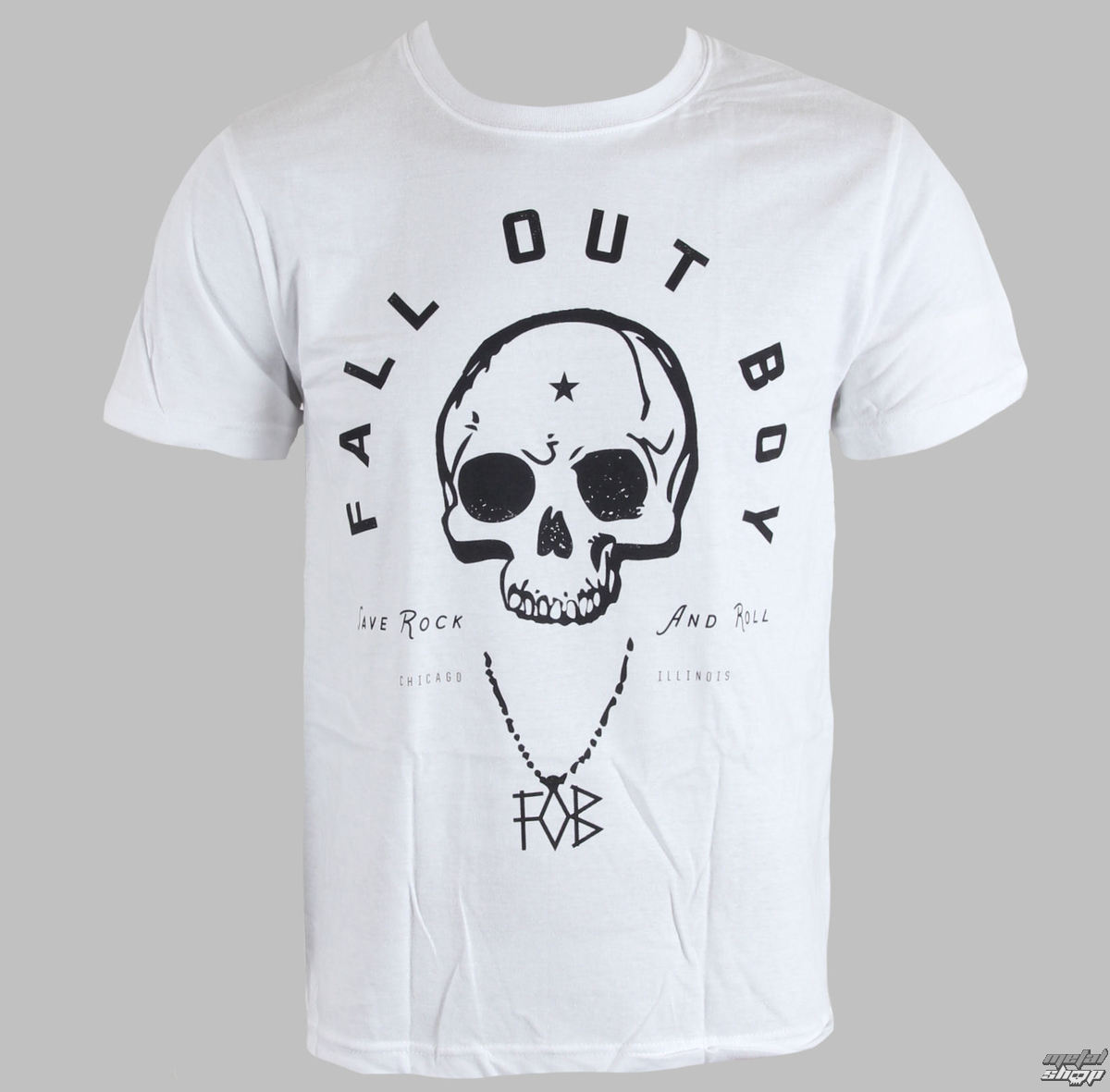 tričko pánské Fall Out Boy - Headdress - White - LIVE NATION - PE10833TSW