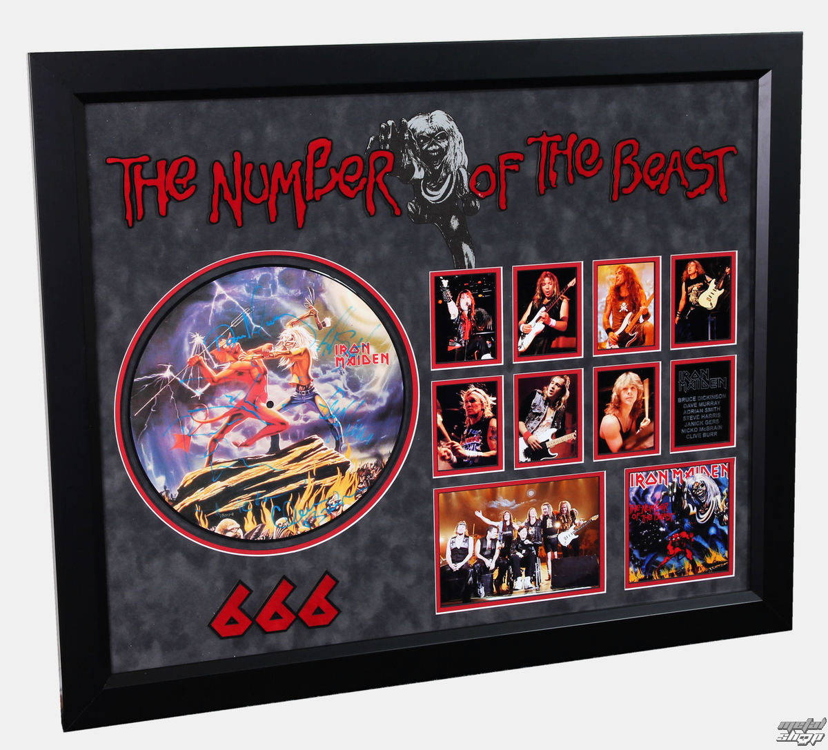 LP s podpisem IRON MAIDEN - Number Of The Beast - ANTIQUITIES CALIFORNIA