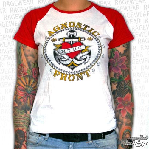 tričko dámské Agnostic Front - Anchor - Red/White - RAGEWEAR - 001GRRW01