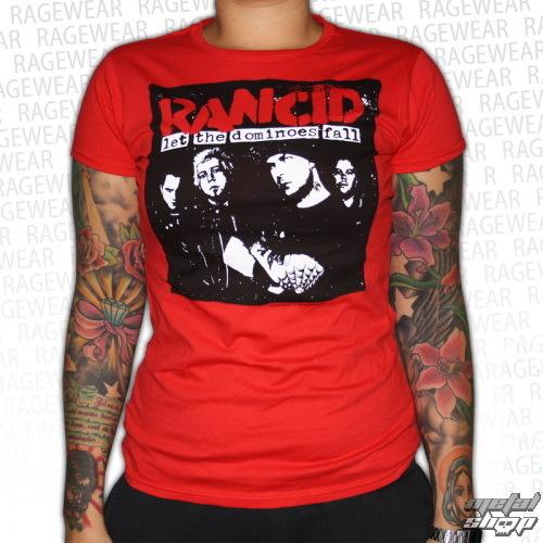 tričko dámské Rancid - Dominoes - Red - RAGEWEAR - 164GSR13