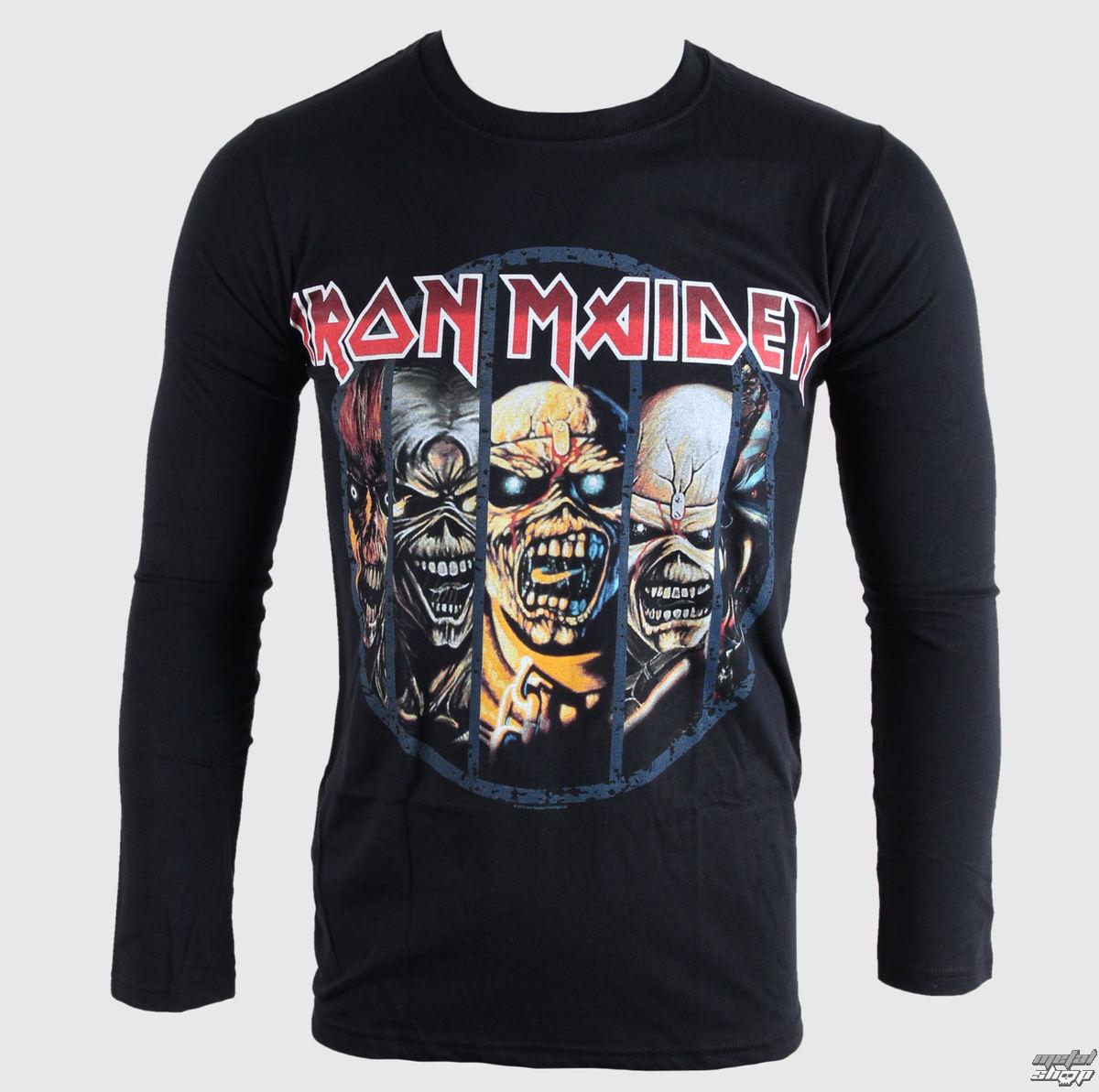 tričko pánské s dlouhým rukávem Iron Maiden - Eddie Evolution - BRAVADO EU - IMLST01MB