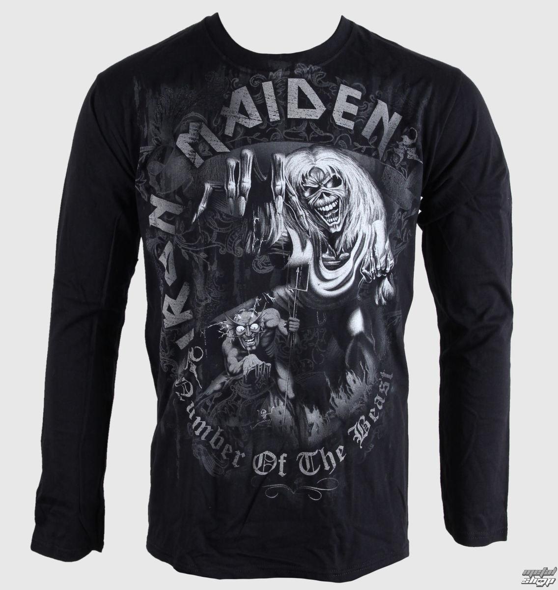 tričko pánské s dlouhým rukávem Iron Maiden - NOTB - Grey - BRAVADO EU - IMLST03MB