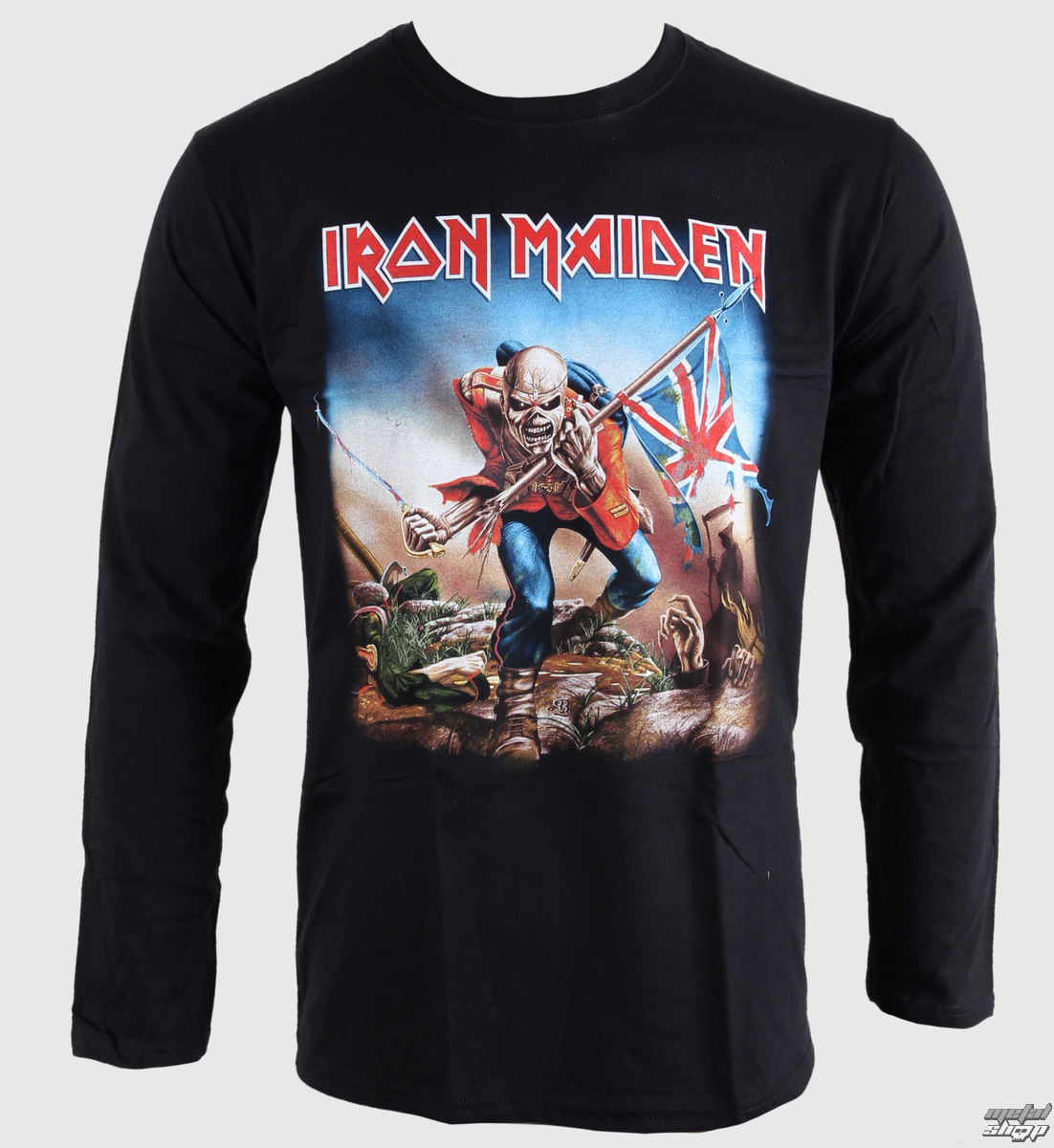 tričko pánské s dlouhým rukávem Iron Maiden - Trooper - BRAVADO EU - IMLST05MB