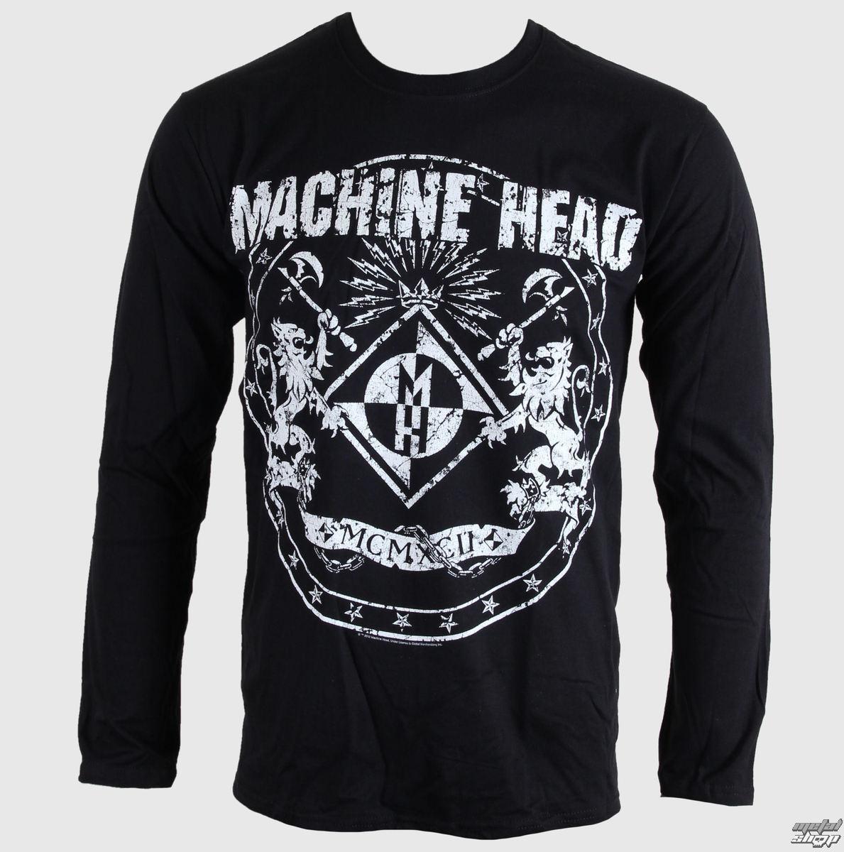 tričko pánské s dlouhým rukávem Machine Head - Classic Crest - BRAVADO EU - MAHLST01MB