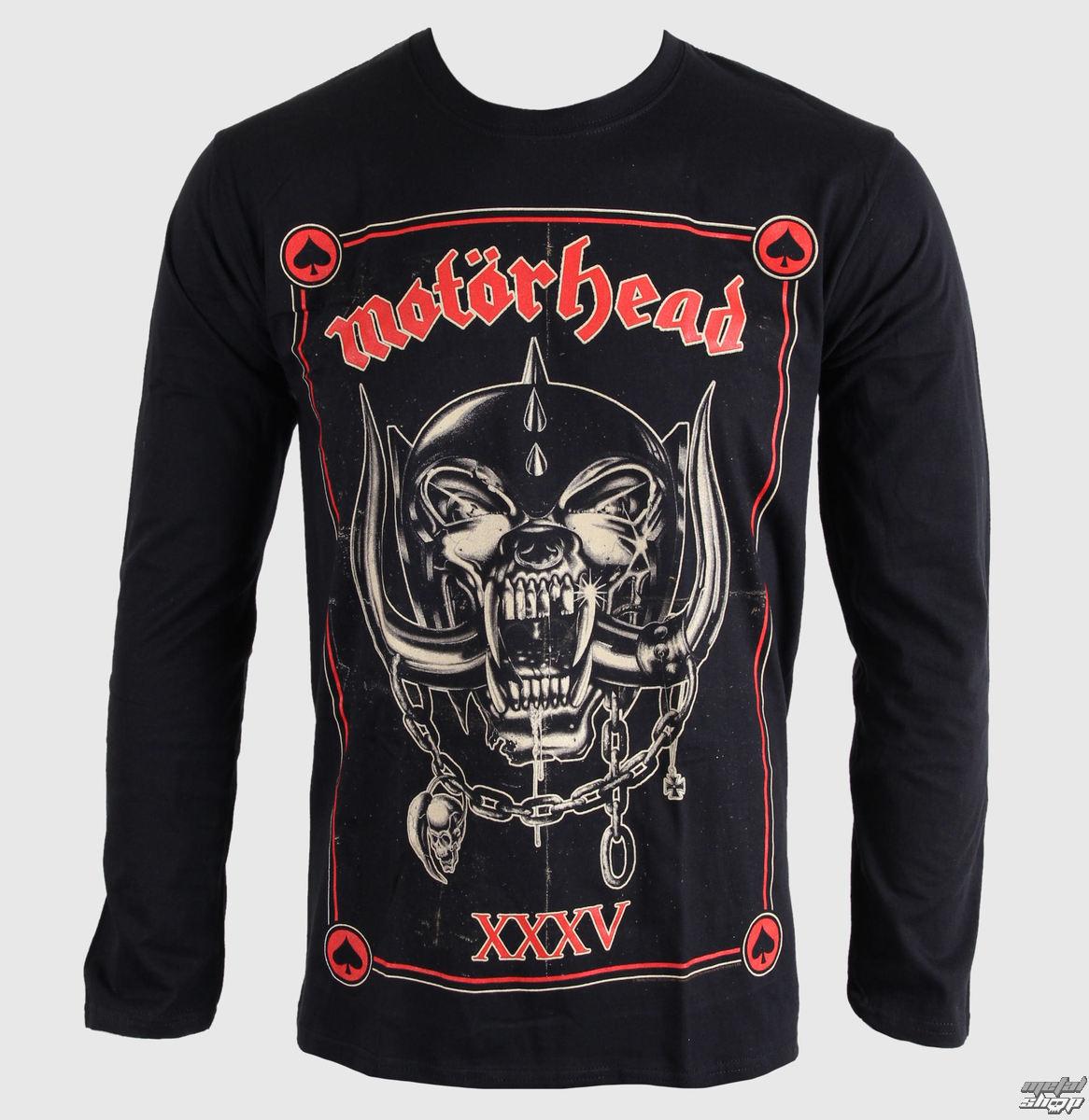 tričko pánské s dlouhým rukávem Motorhead - Anniversary (Propaganda) - BRAVADO EU - MHEADLST01MB