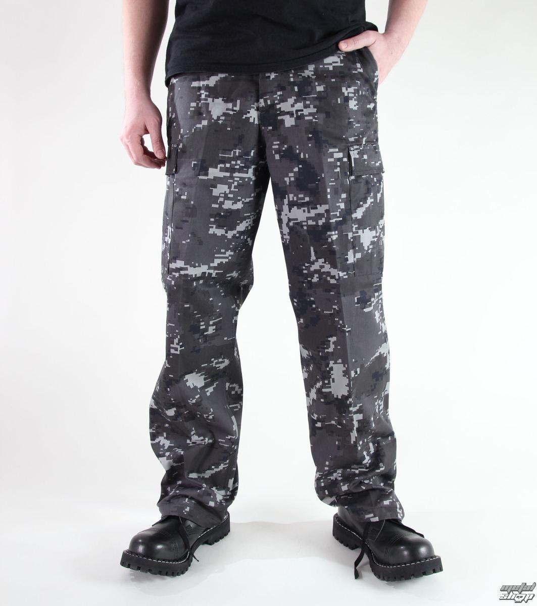 kalhoty pánské MIL-TEC - US Ranger Hose - Black Digital - 11810076