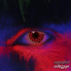 set kontaktní čočka RED AND BLACK CHECKERS UV a desinfekční sada - EDIT - 83031