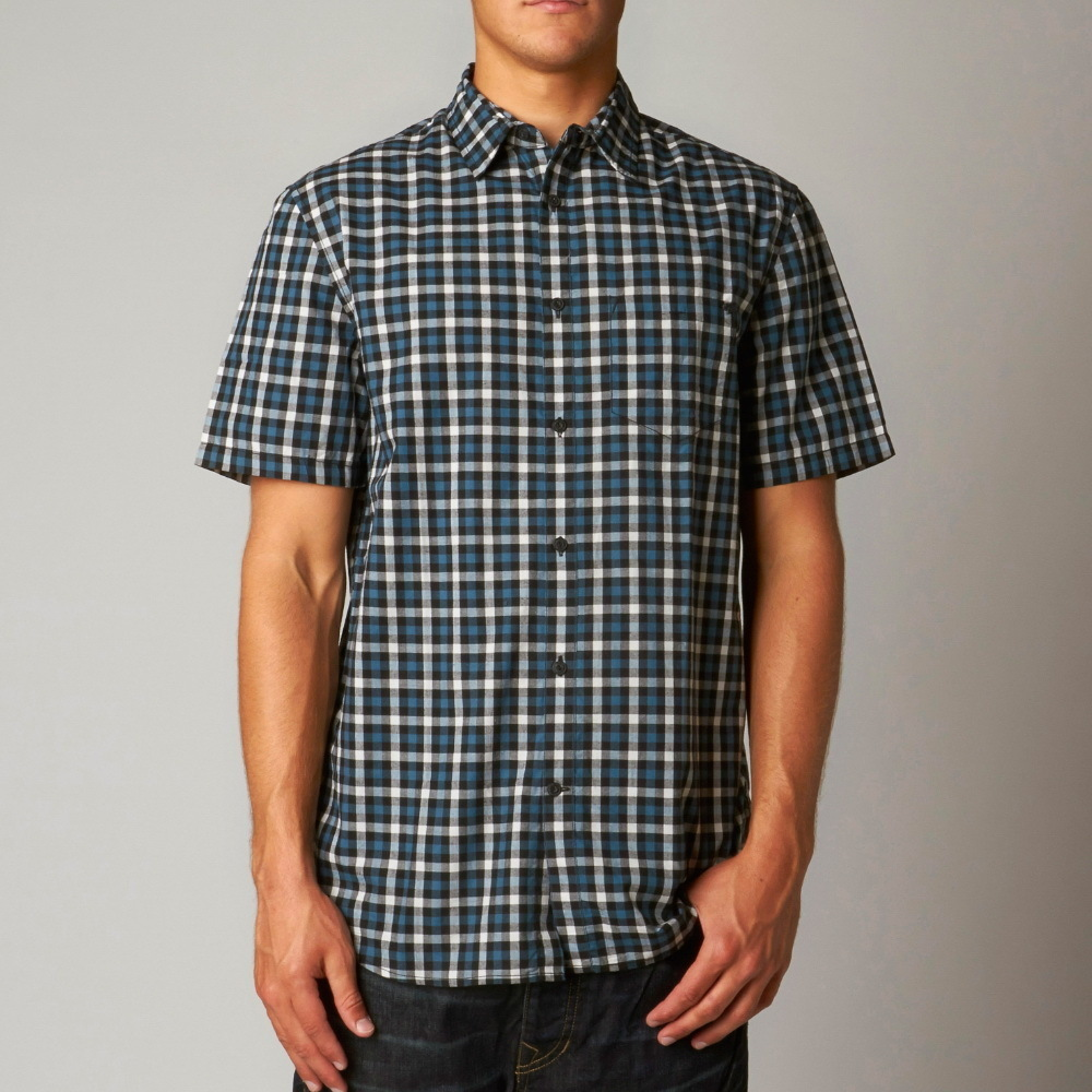košile pánská FOX - Toby SS Woven - BLACK