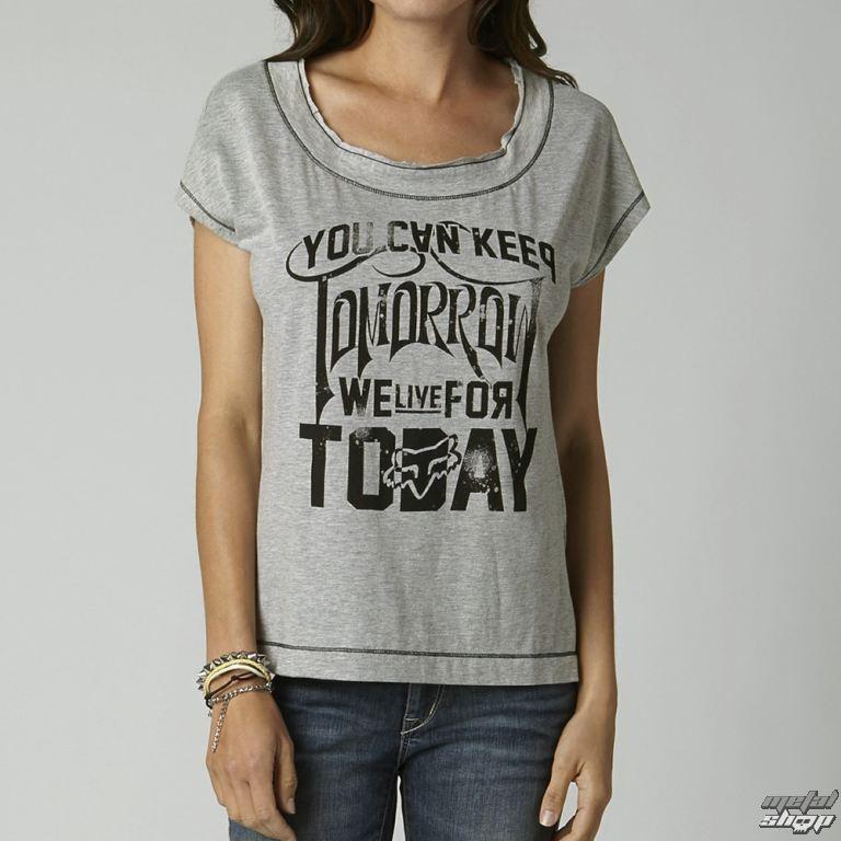 tričko dámské (top) FOX - Outshine - Heather Grey