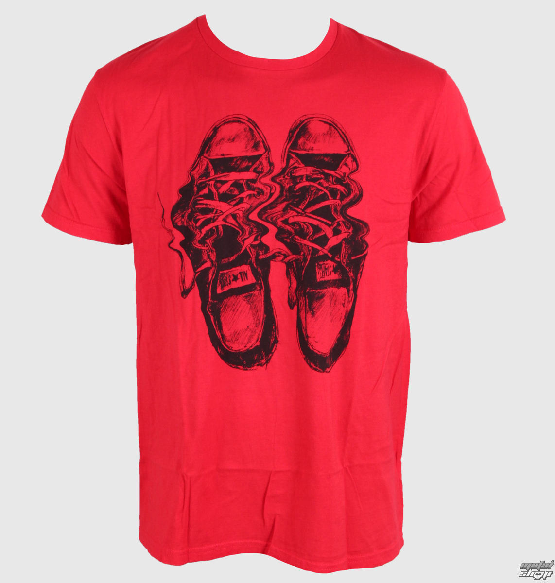 tričko pánské CONVERSE - AMT Distorted Chuck - Red - 06962C-642