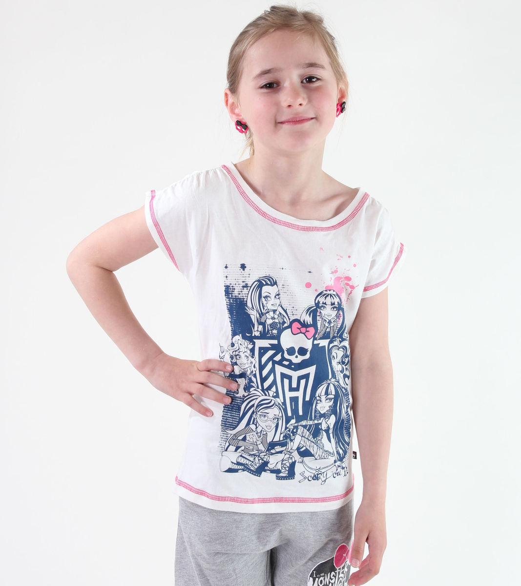 tričko dívčí TV MANIA - Monster High - White - MOH 521