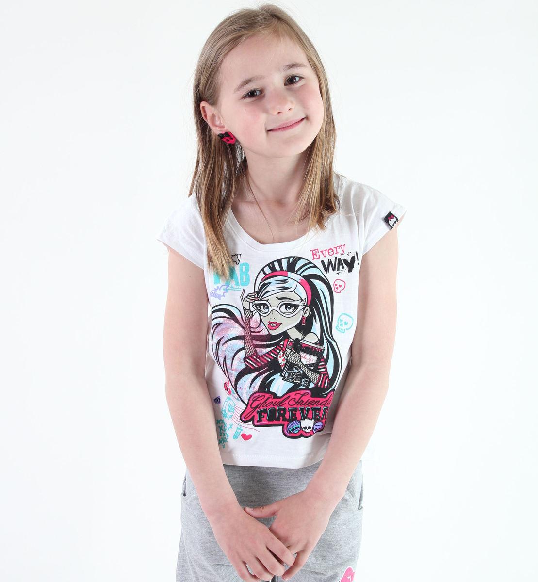 tričko dívčí TV MANIA - Monster High - White - MOH 571