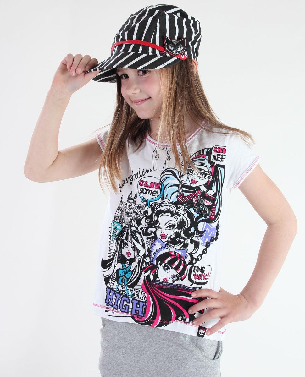 tričko dívčí TV MANIA - Monster High - White - MOH 556