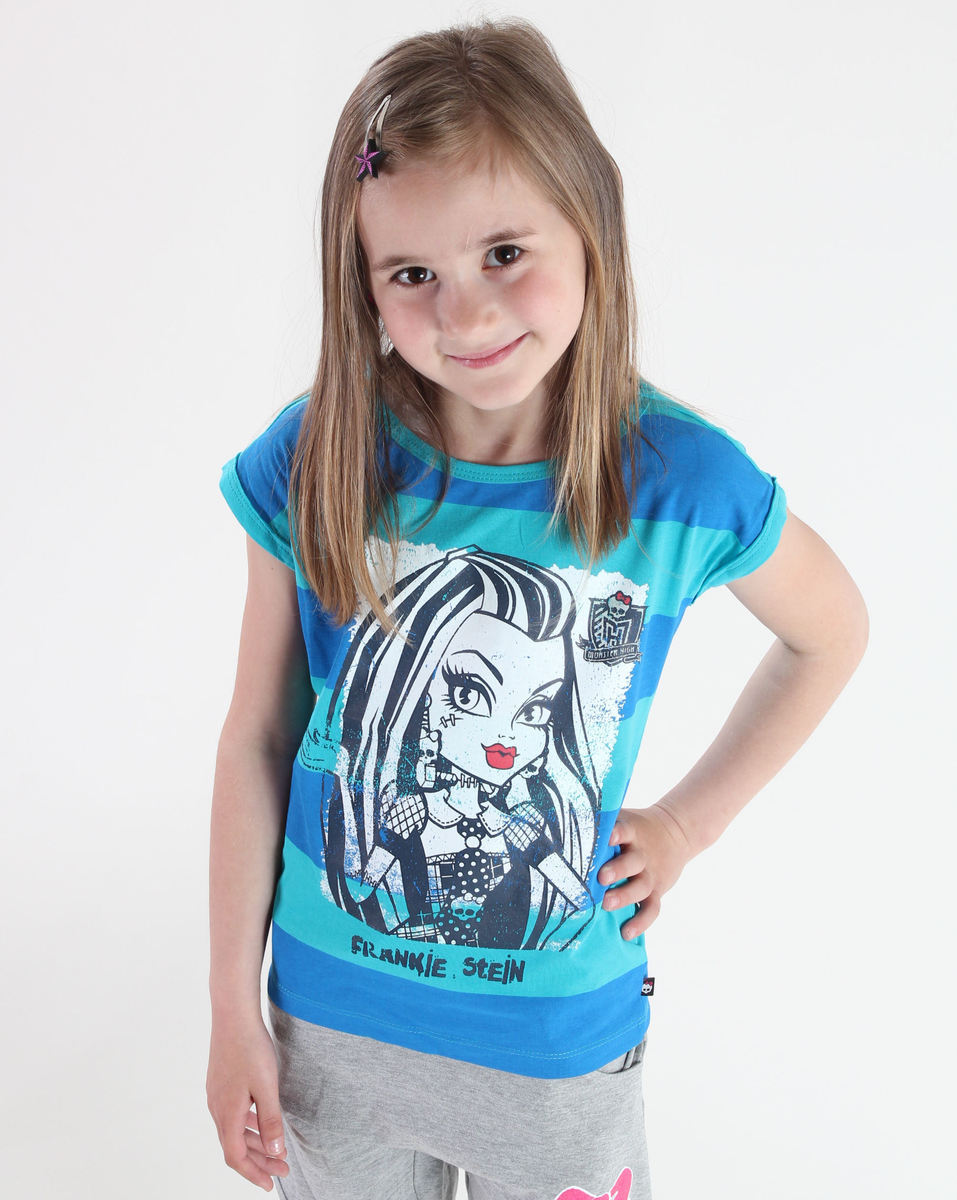 tričko dívčí TV MANIA - Monster High - Blue/Turquise