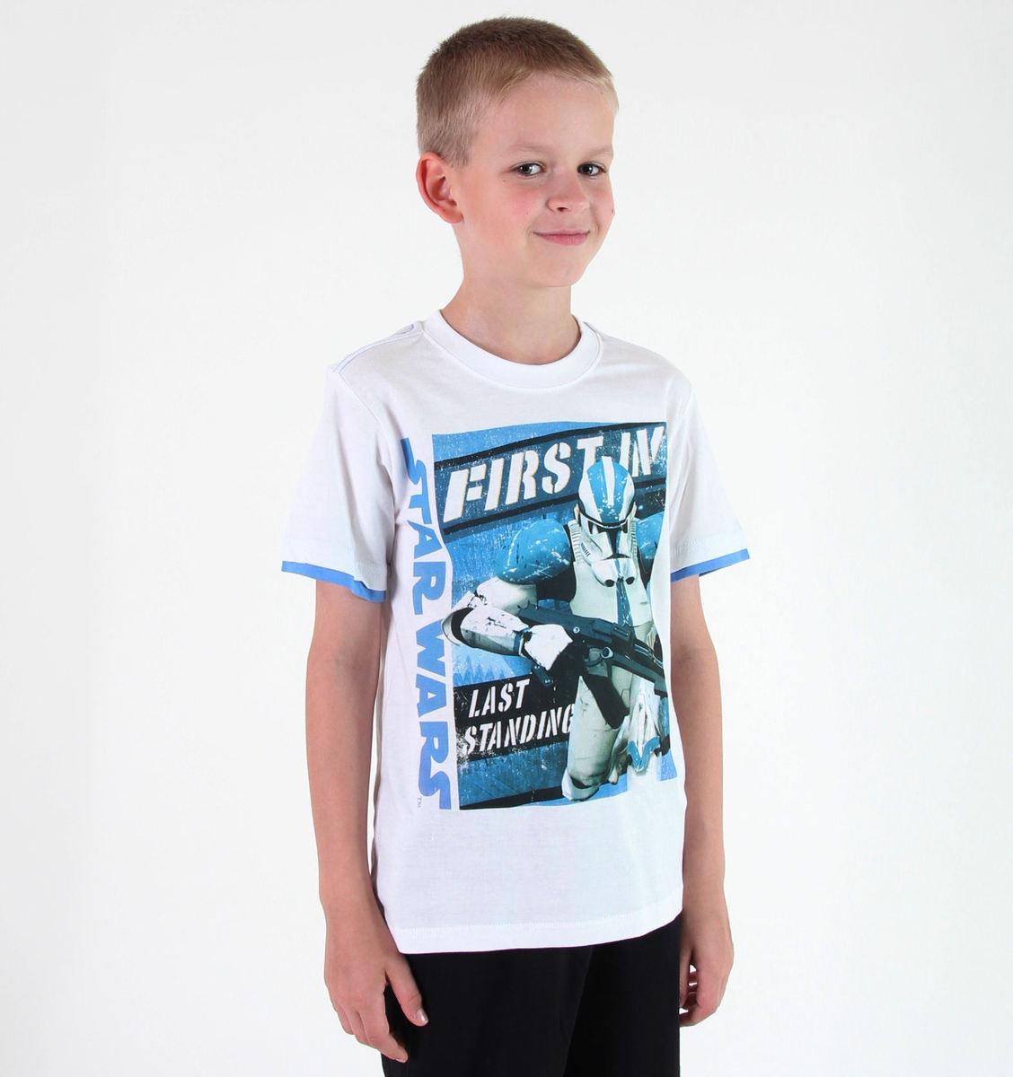 tričko chlapecké TV MANIA - Star Wars Clone - White - STAR 590