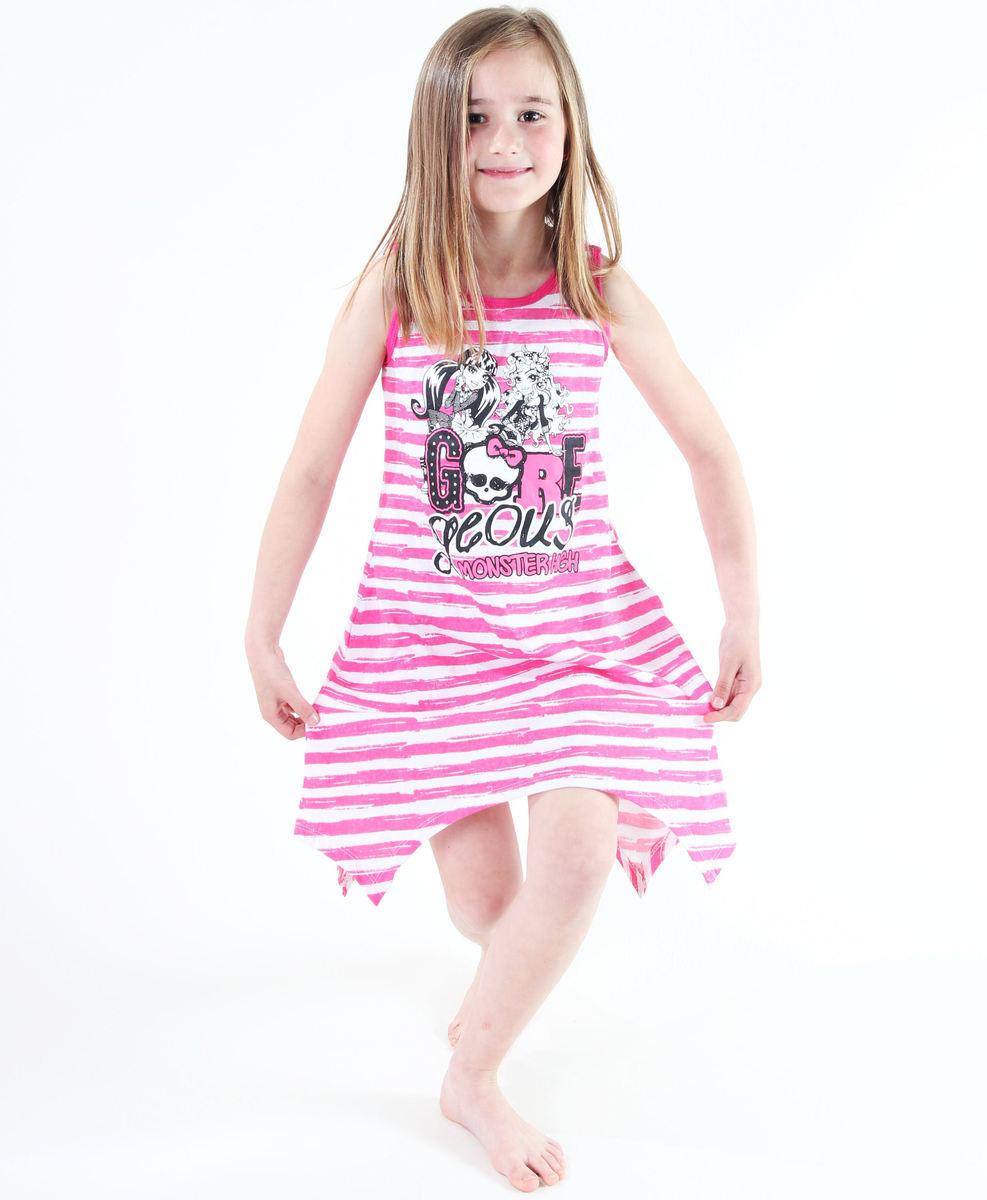 šaty dívčí TV MANIA - Monster High - White/Pink - MOH 550