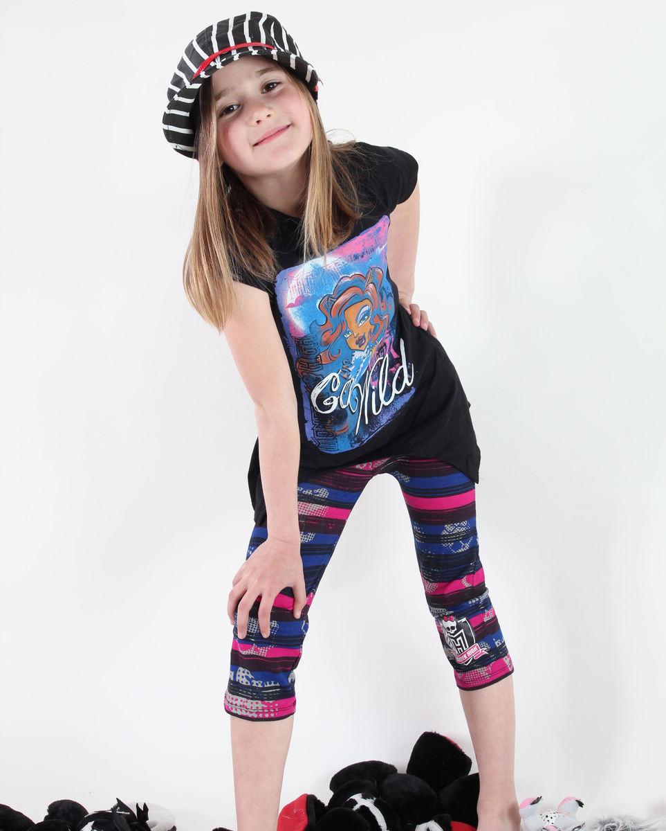 set dívčí ( tričko, legíny) TV MANIA - Monster High - Black - MOH 540