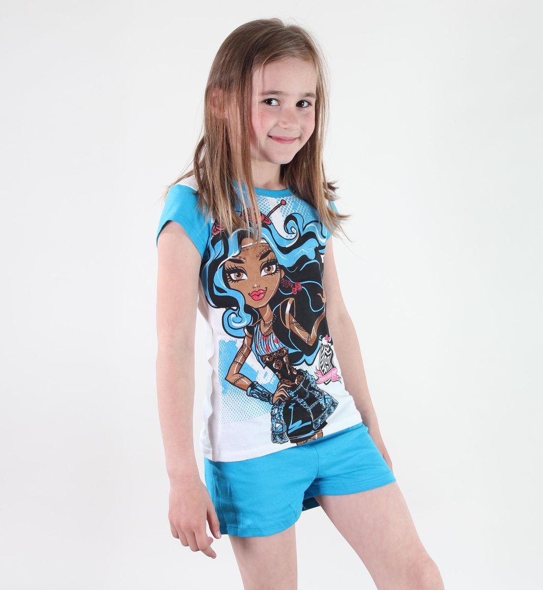 pyžamo dívčí TV MANIA - Monster High - White/Blue - MOH 545