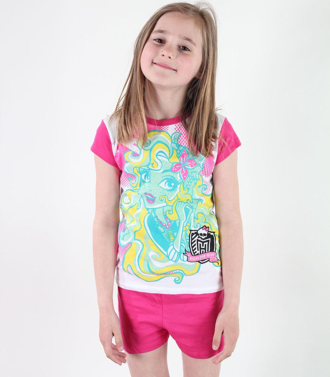 pyžamo dívčí TV MANIA - Monster High - White/Pink - MOH 546