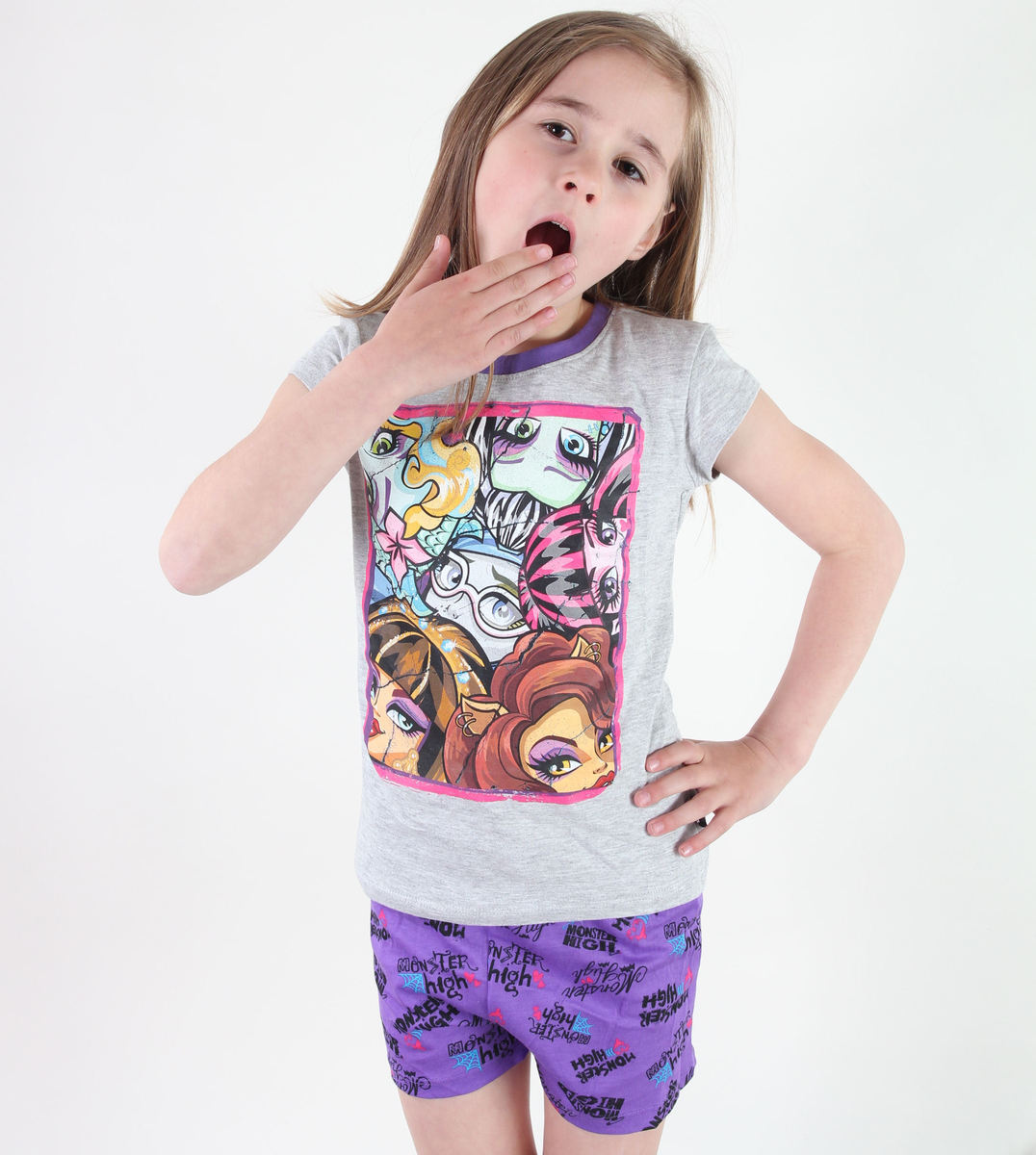 pyžamo dívčí TV MANIA - Monster High -Grey - MOH 577