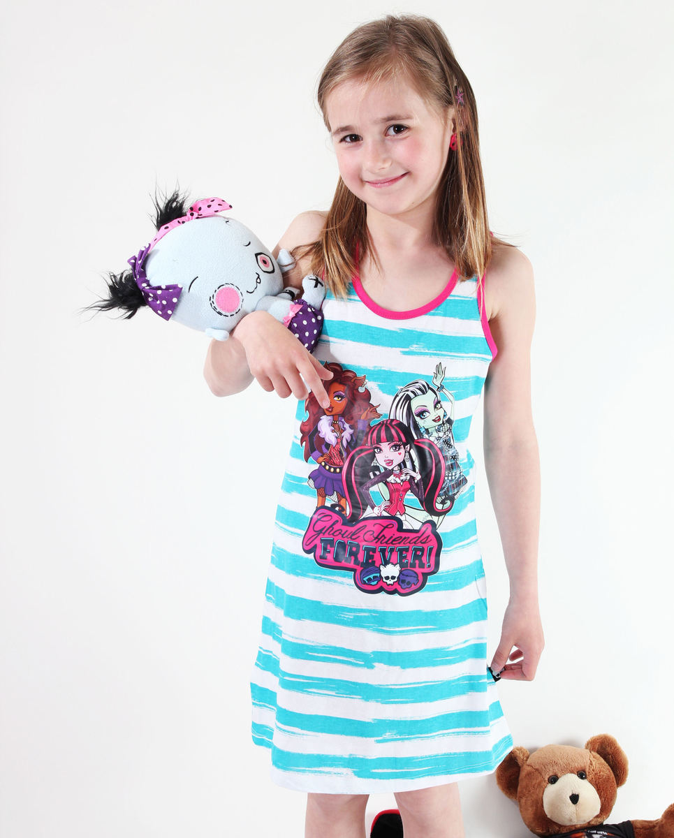 šaty dívčí TV MANIA Monster High - WhiteTurquise - MOH 574 10140
