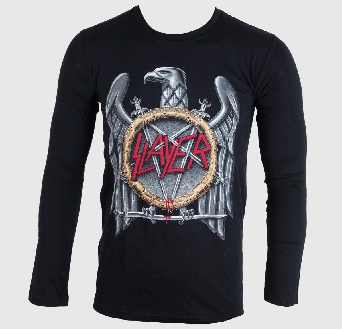 tričko pánské s dlouhým rukávem Slayer - Silver Eagle - ROCK OFF - SLAYLST01
